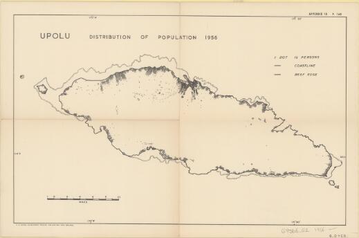 Upolu : distribution of population 1956