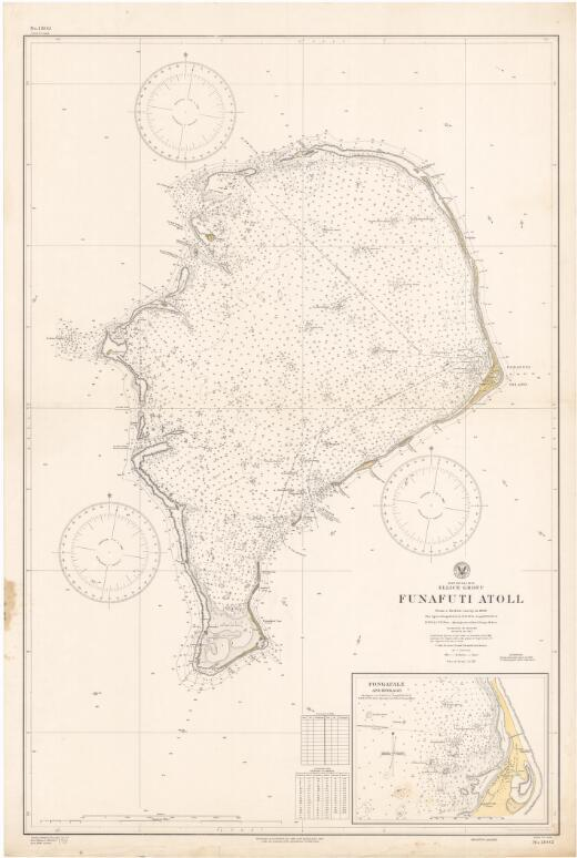 Funafuti Atoll, Ellice Group, South Pacific : from a British survey in 1896 / Hydrographic Office, U.S. Navy