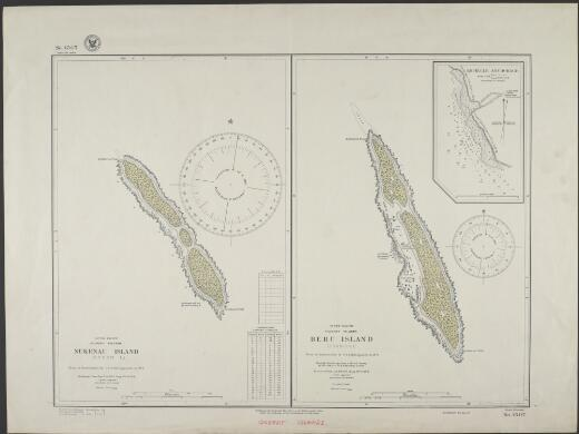 Nukunau Island (Byron I.), Gilbert Islands, South Pacific : Beru Island (Francis I.), Gilbert Islands, South Pacific / Hydrographic Office, U.S. Navy