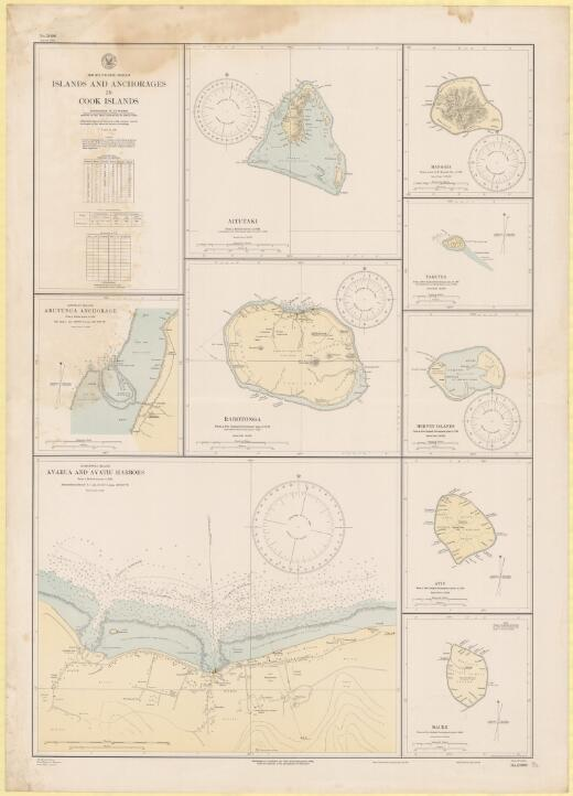 Islands and anchorages in Cook Islands, South Pacific Ocean / Hydrographic Office, U.S. Navy