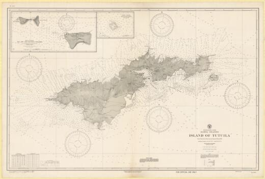 Island of Tutuila, Samoa Islands, South Pacific Ocean : from United States naval surveys between 1901 and 1939 / Hydrographic Office, U.S. Navy