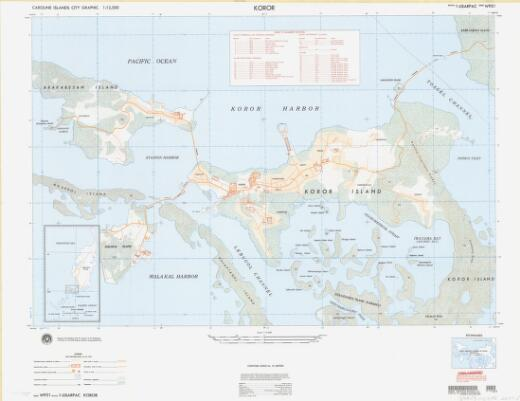 Koror : Caroline Islands city graphic, 1:12,500 / prepared and published under the direction of the Department of Defense by the 652d Engineer Battalion (Topographic) (Army)