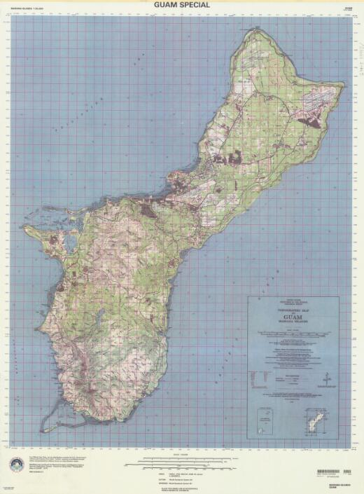 Topographic map of Guam, Mariana Islands / produced by National Imagery and Mapping Agency