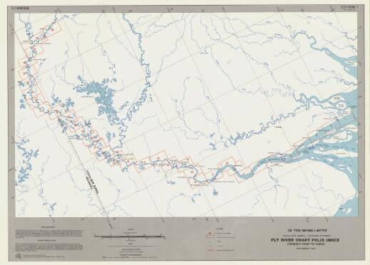 Fly River chart folio : Korimoro Point to Kiunga navigation charts : hydrographic survey of the Fly River, Papua New Guinea - Western Province / prepared by Snowy Mountains Engineering Corporation