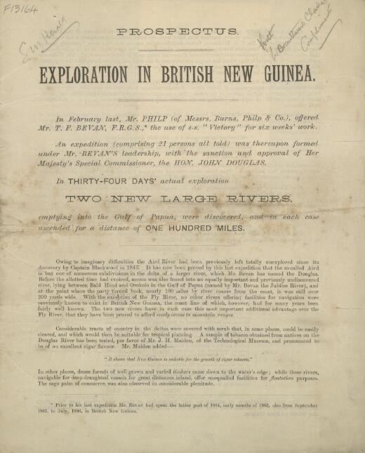 Prospectus : exploration in British New Guinea