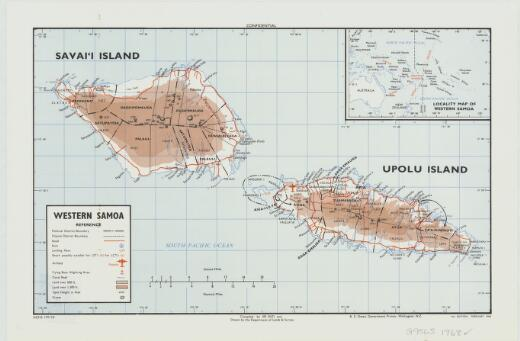 Western Samoa / compiled by JIB (NZ) and drawn by the Department of Lands & Survey