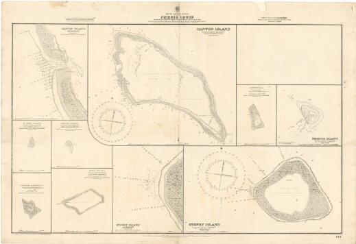 """Phœnix Group, South Pacific Ocean / surveyed by Commander C.F. Oldham, R.N., and the officers of H.M.S. """"Egeria"""", 1889 ; Hydrographic Office"""