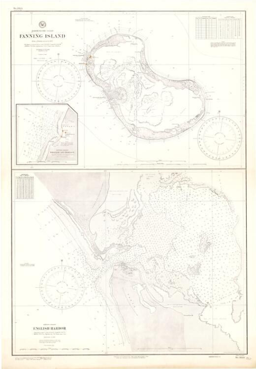 Fanning Island, North Pacific Ocean : from a British survey in 1897 / Hydrographic Office, U.S. Navy