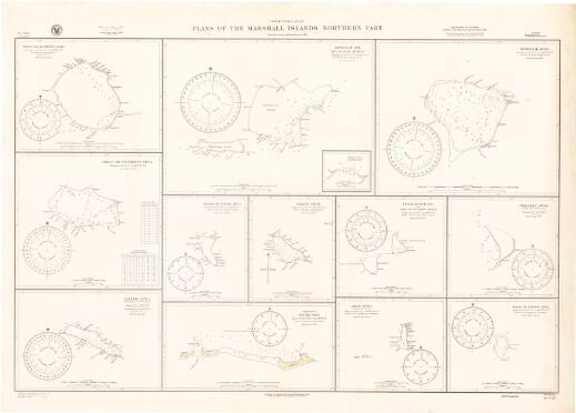 Plans of the Marshall Islands, northern part, North Pacific Ocean : from the latest information to 1931 / Hydrographic Office, U.S. Navy
