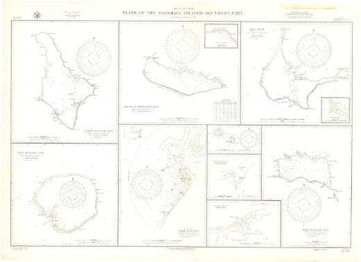 Plans of the Marshall Islands, southern part, North Pacific Ocean : from the latest information to 1931 / Hydrographic Office, U.S. Navy