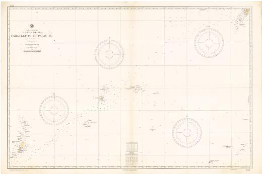 Faraulep Is. to Palau Is., Caroline Islands, North Pacific Ocean : from the latest information to 1927 / Hydrographic Office, U.S. Navy