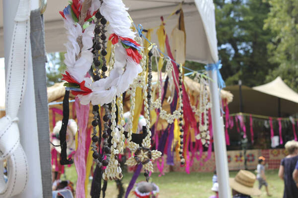 Traditional Tuvalu handicrafts, Pasifika Festival.