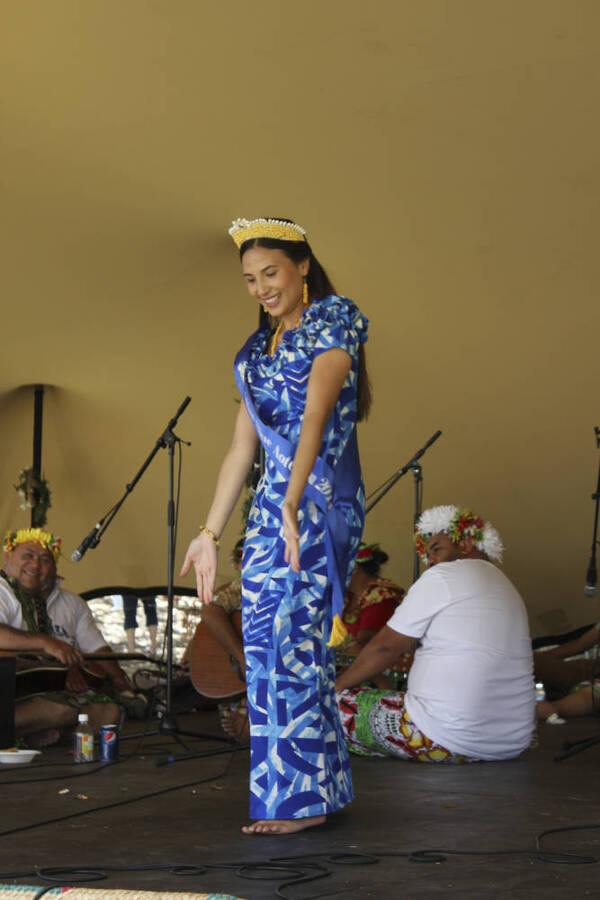 Miss Niue Aetoaroa at Pasifika Festival.