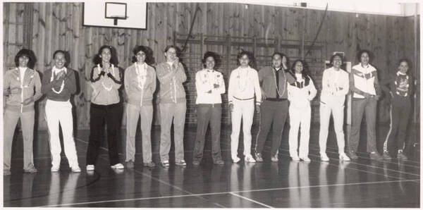 Ladies basketball players, South Auckland, 1978