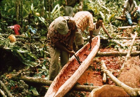 Canoe Making in Niue