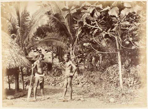 Samoan Village, Pango Pango (sic). From the album: New Zealand Views