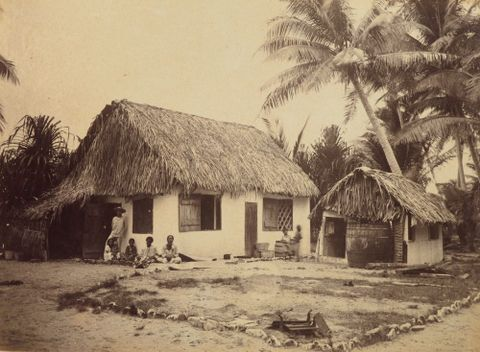 Trader's house Funafuti. From the album: Views in the Pacific Islands