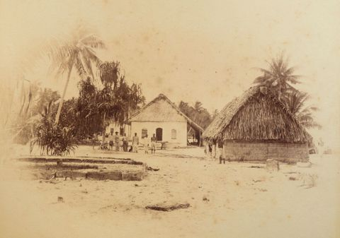 Mission House Funafuti. From the album: Views in the Pacific Islands