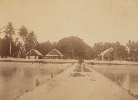 Wharf Jaluit. From the album: Views in the Pacific Islands