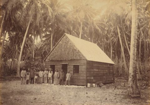 Traders house Namorik. From the album: Views in the Pacific Islands