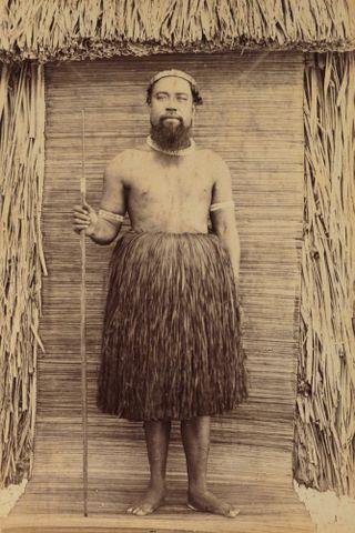 Riabuke (?) Chief Majuro. From the album: Views in the Pacific Islands