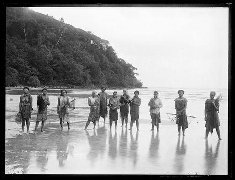 Fishing girls, Pango Pango (sic)