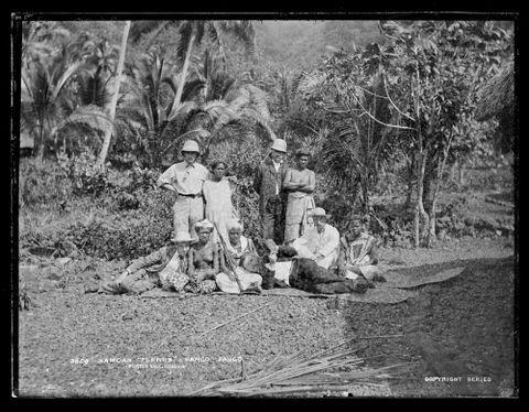 "Samoan ""Flends"", Pango Pango (sic)"