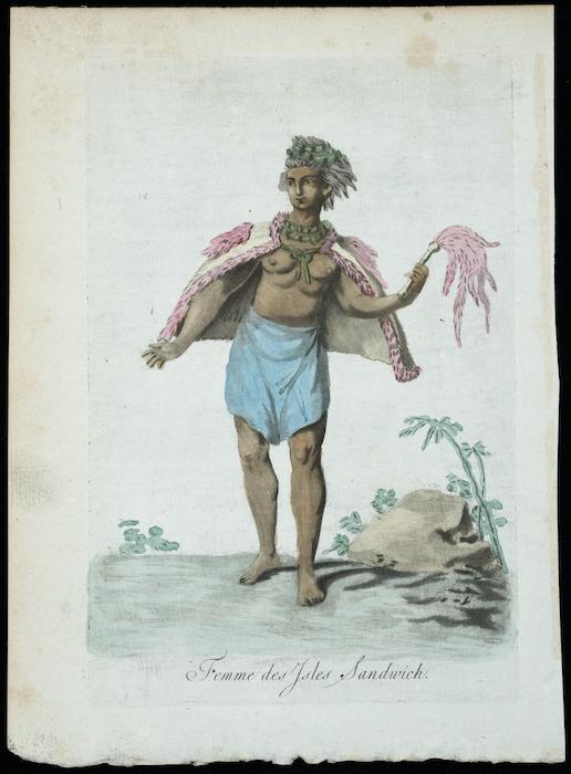 [Webber, John], 1751?-1793 :Femme des iles Sandwich [ca 1840?]