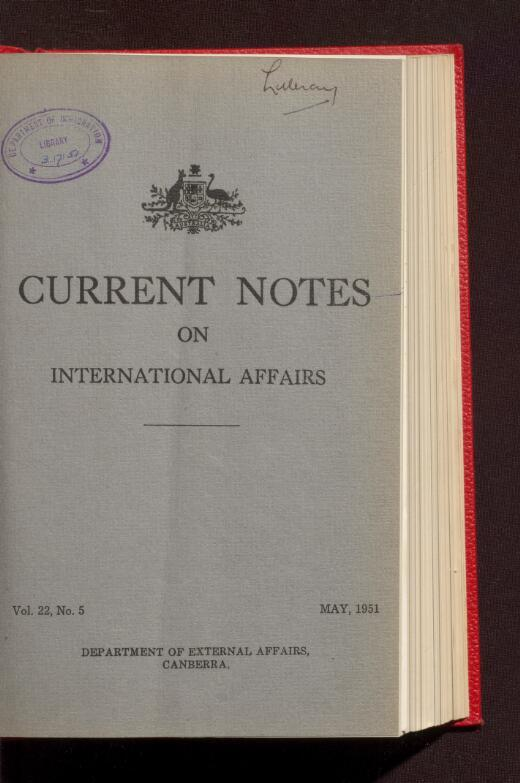 The Australian Diplomatic Service (31 May 1951)