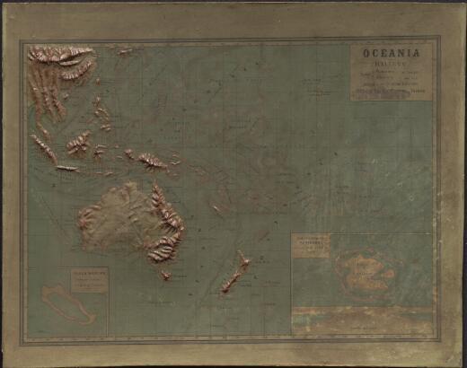 Oceania in rilievo / autore Capno Roggero Giuseppe