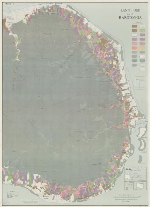 Land use map of Rarotonga (sheet 2 recto)