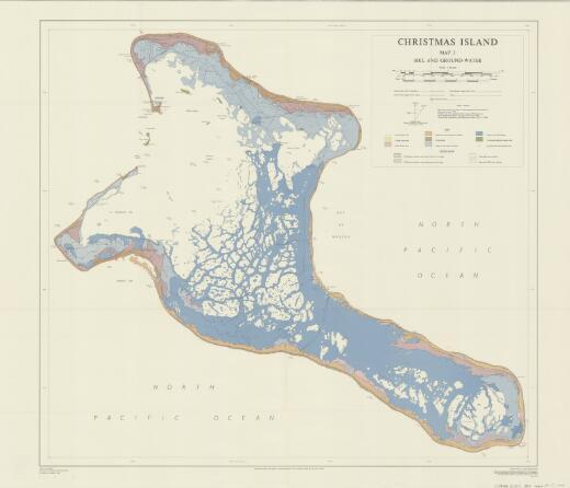 Christmas Island: Soil and ground-water. (Map 3)