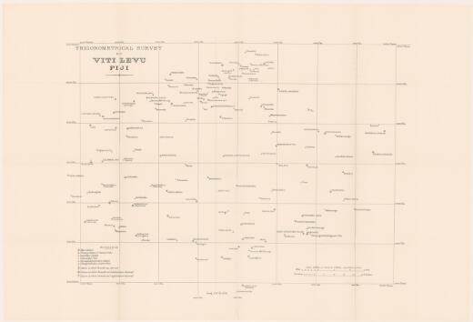 Report on the trigonometrical survey of Viti Levu / by G.T. McCaw