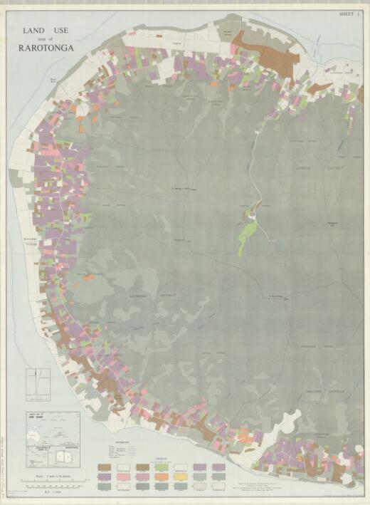 Land use map of Rarotonga (sheet 1 recto)