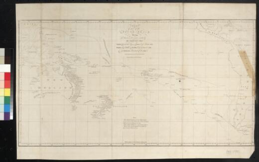 Chart of part of the South Sea shewing the tracts & discoveries made by His Majestys ships Dolphin ... ... engrav'd by W. Whitchurch, Pleasant Row Islington