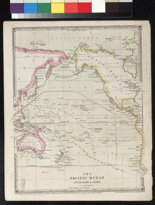 The Pacific Ocean its islands & coasts / drawn & engraved by W. Gardner Evans, New York