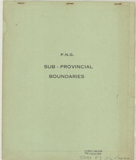 P.N.G. sub-provincial boundaries