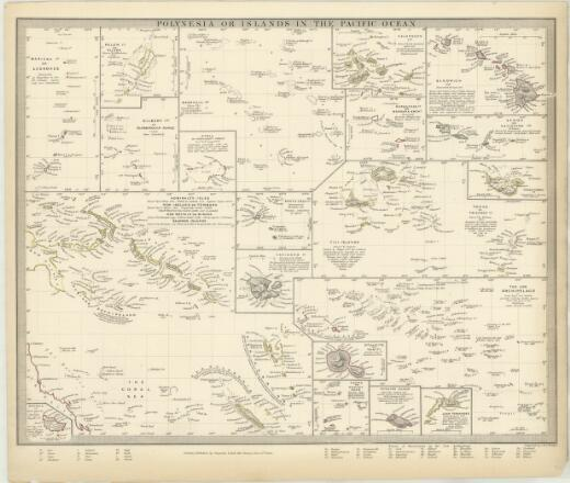Polynesia, or, Islands in the Pacific Ocean (Sheet 156)