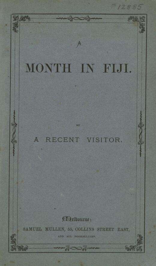 A month in Fiji / by a recent visitor