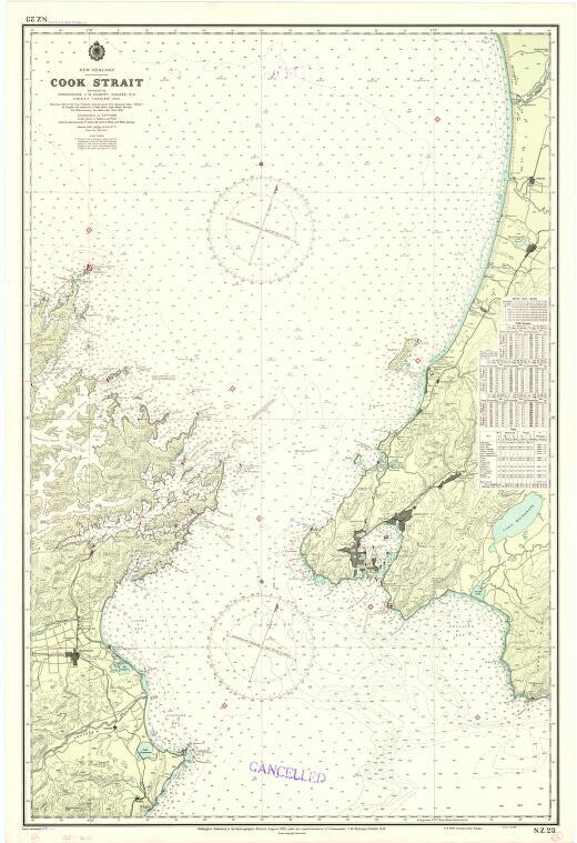 [New Zealand hydrographic charts]: New Zealand. Cook Strait. (Sheet 23)
