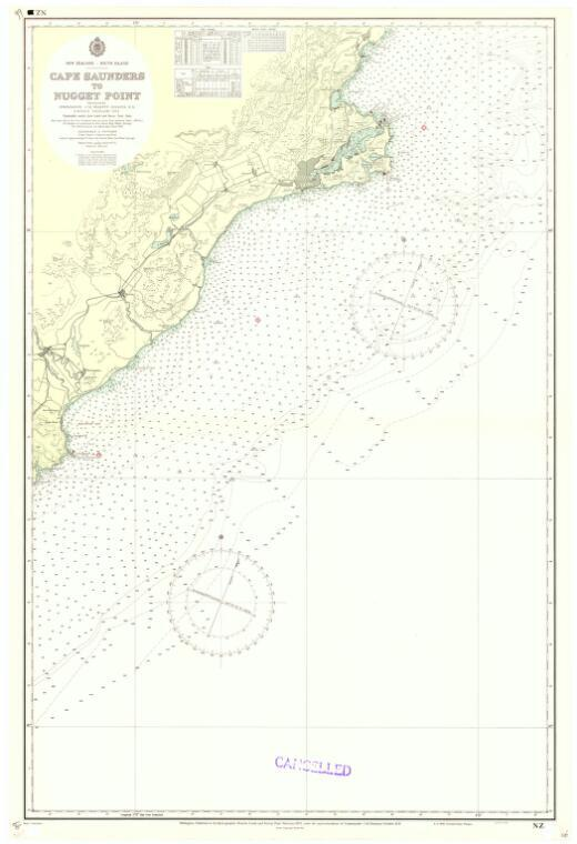 [New Zealand hydrographic charts]: New Zealand - South Island. Cape Saunders to Nugget Point. (Sheet 66)