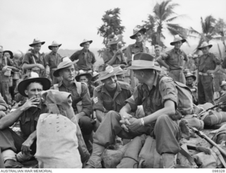 BORAM, NEW GUINEA. 1945-10-26. A NEW UNIT, 67 INFANTRY BATTALION, WAS FORMED FROM VOLUNTEERS IN THE WEWAK AREA TO BECOME PART OF THE BRITISH COMMONWEALTH OCCUPATION FORCE (BCOF). THE UNIT EMBARKED ..