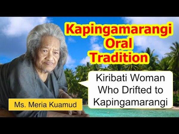 Legend of Kiribati woman who drifted to Kapingamarangi