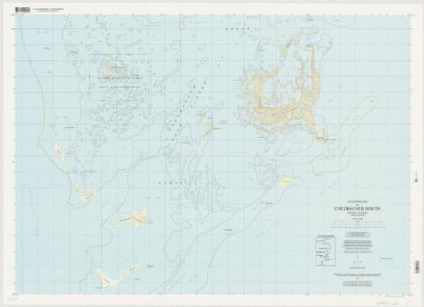 Topographic map of ... Republic of Palau, Caroline Islands: Chelbacheb South