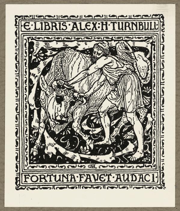 [Crane, Walter], 1845-1915 :E libris Alex H Turnbull. Fortuna favet audaci [1891]