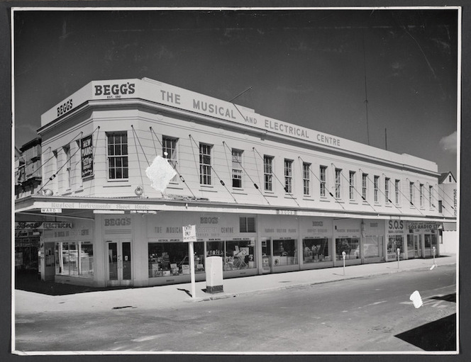 Begg's musical and electrial centre building, Ward Street, Hamilton