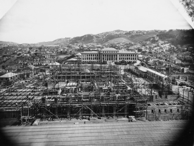 Dominion Museum, Wellington, under construction