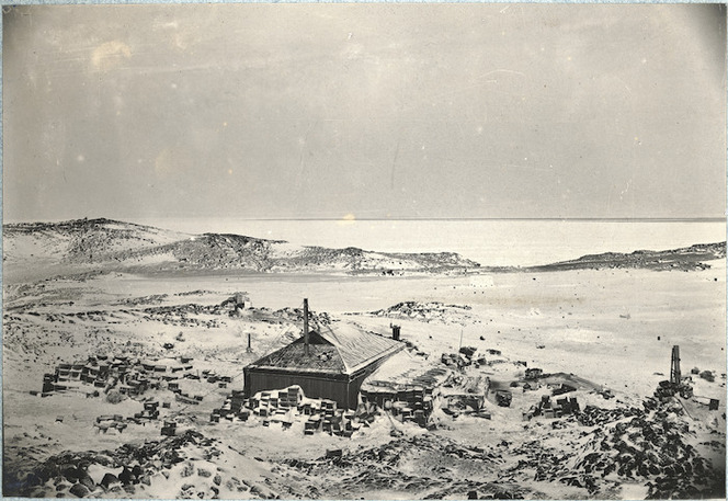 Shackleton's hut at Cape Royds, Ross Island, ca 1908