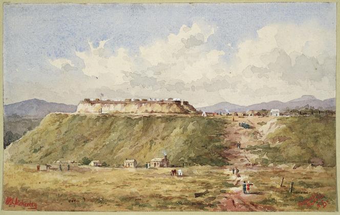 Atcherley, Henry Mount Langton, fl 1860-1903 :Redoubt, Maketu, New Zealand [1864?]