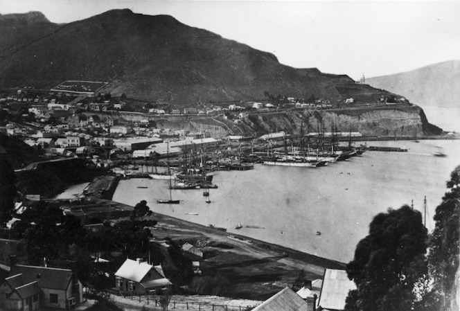 Overlooking Port Lyttelton and township